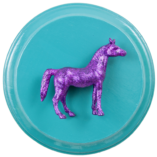 Purple Horse on Teal by Heather Miller, WhiteRoses Art